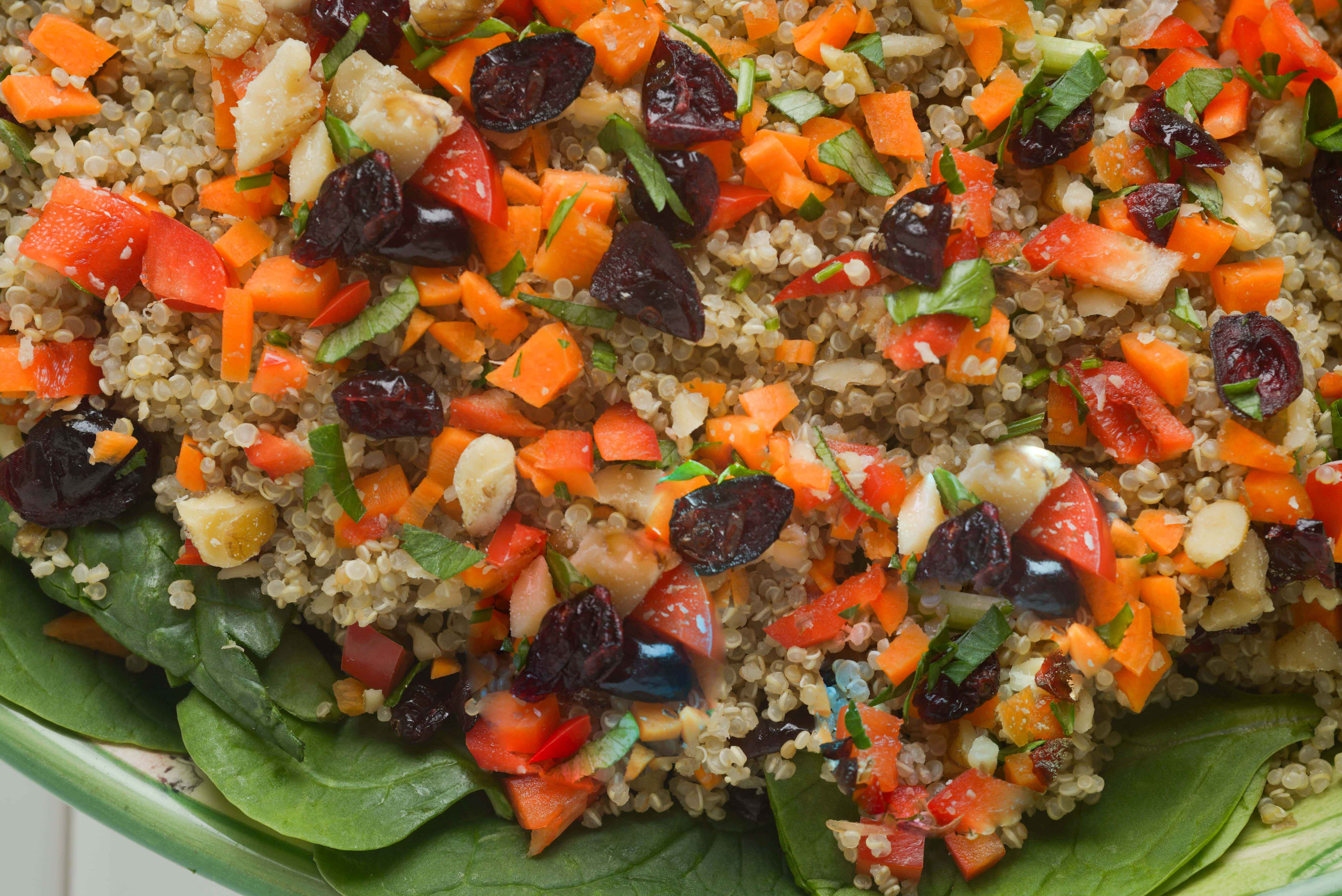 Dried Cranberry & Cilantro Quinoa Salad