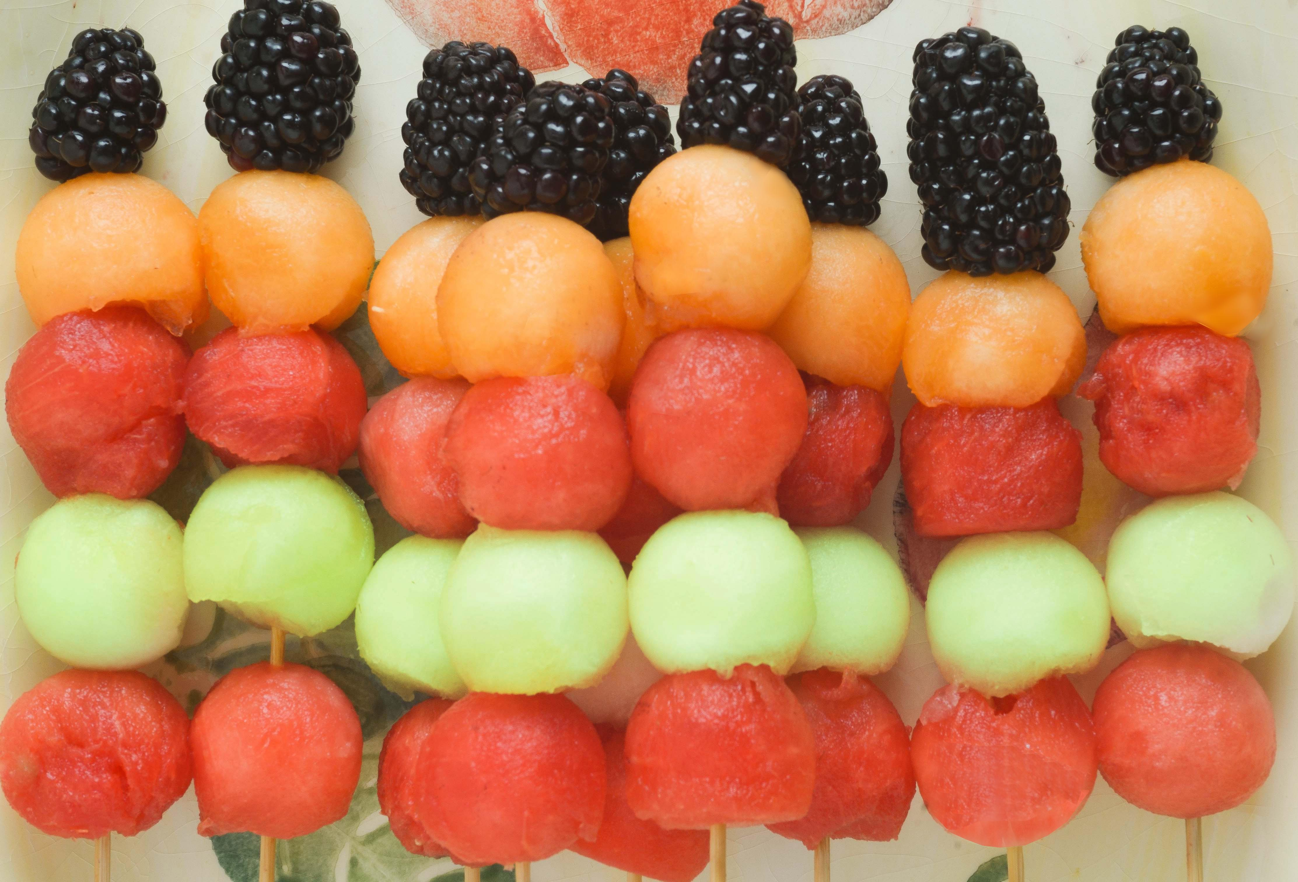 Melon & Berry Kabobs